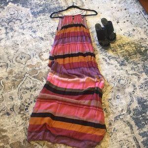 Striped LOFT maxi dress